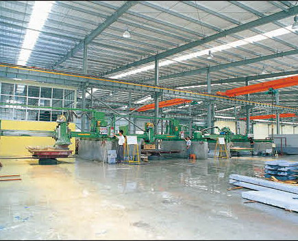 Bridge cutters - Monthly capacity is 20,000 square meters.